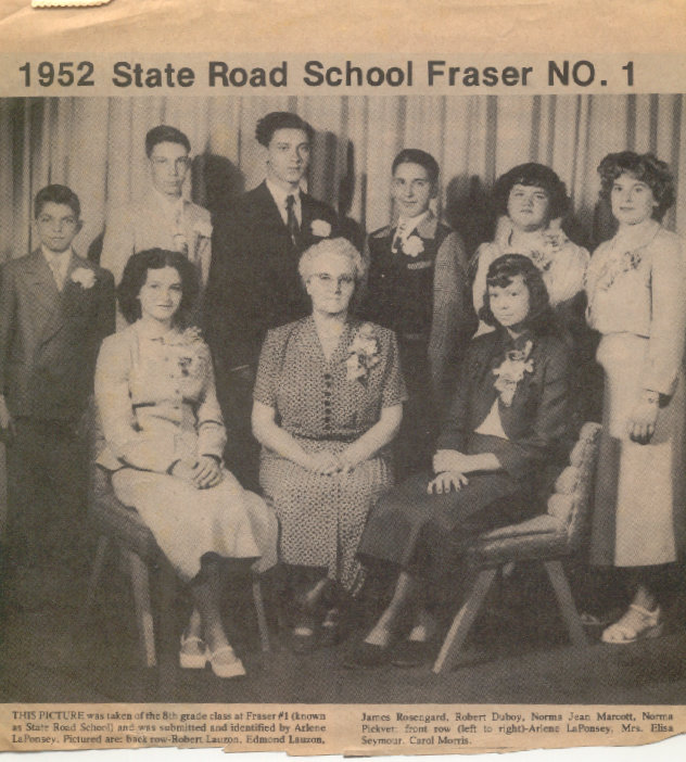 1952 State Road School Fraser No 1